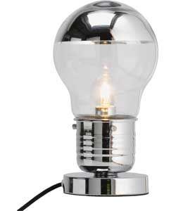 Bulb Touch Table Lamp - Chrome.