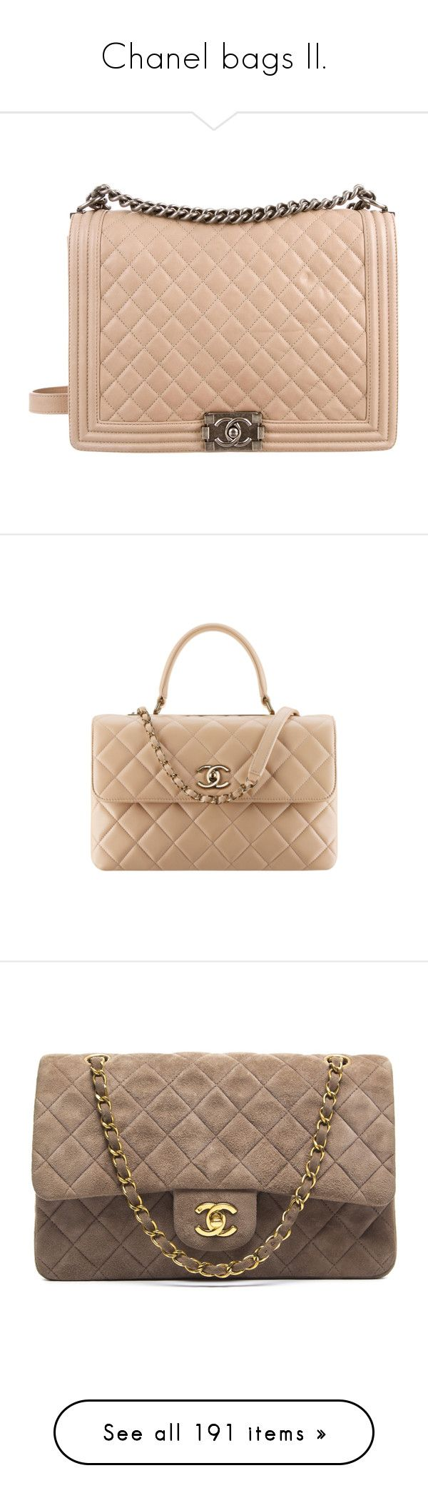 """Chanel bags II."" by plaraa on Polyvore featuring bags, handbags, shoulder bags, purses, bolsas, chanel, neutrals, purse shoulder bag, handbags shoulder bags y quilted shoulder bag"