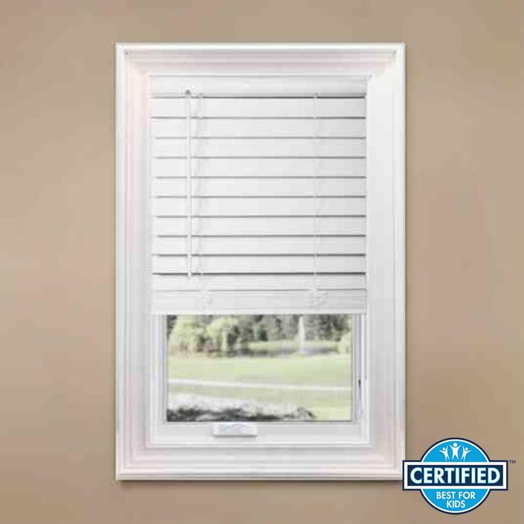Home Decorators Collection White Cordless Room Darkening 2 5 In Premium Faux Wood Blind For Window 62 5 In W X 72 In L 10793478382859 The Home Depot Faux Wood Blinds Wood Blinds Faux Wood