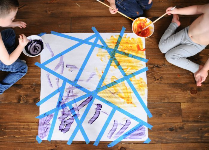 Kids can make an eco-friendly piece of abstract art with this easy tutorial.