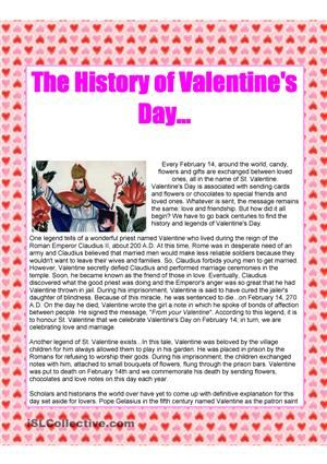 the history of valentines day text - Valentines Day Texts