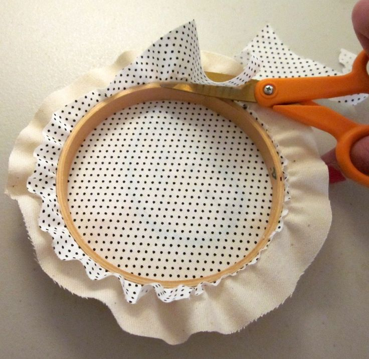 Lova Revolutionary : Framed Embroidery Hoops Tutorial ... finish a hoop with a different back material to hides work on back of embroidery - great idea!