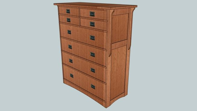 Mission style chest of drawers plans woodworking