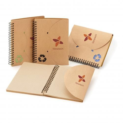 Travis notebook made with 70% recycled materials