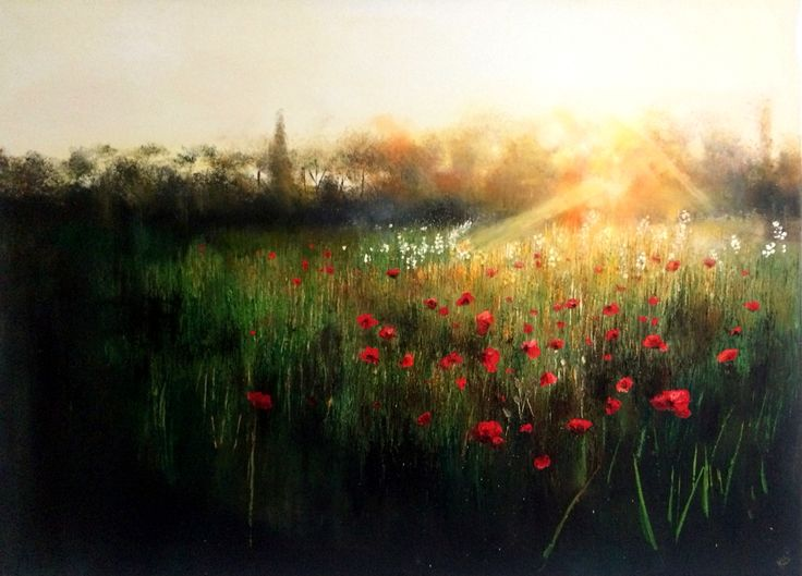 Kimberley Harris:'The Afterglow' Oil 2015 Painting #art