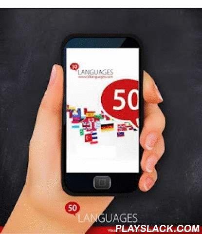 """Learn Italian - 50 Languages  Android App - playslack.com ,  """"Italiaans 50 talen"""" (www.50talen.com) bevat 100 lessen die u voorzien van een basiswoordenschat. Deze gratische toepassing bevat 30 lessen. Zonder enige voorafgaande kennis leert u, met korte zinnen en in realistische situaties, heel snel een vreemde taal vloeiend spreken. De 50talen-methode is een geslaagde combinatie van audio en tekst, waarmee u efficiënt een taal kunt leren.50talen komt overeen met de niveaus A1 en A2 van het…"""