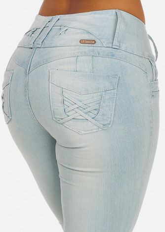 Butt Lifting Low Rise Jeans (Light)