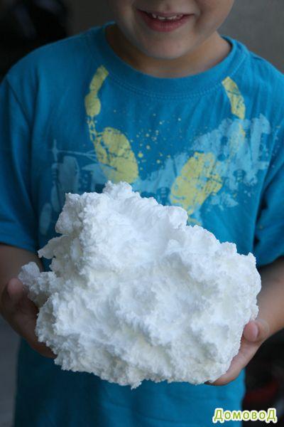Очень интересный эксперимент - создайте мыльное облако за пару минут!