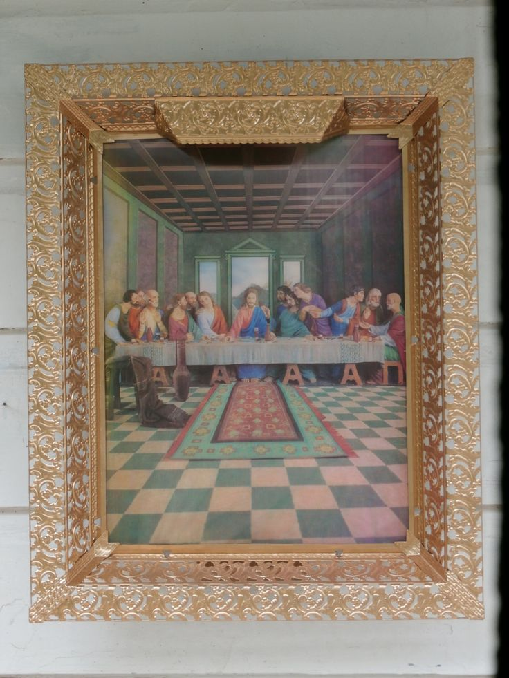 Lenticular Jesus Last Supper and Face Vintage Religious Decor 3D Vari Vue by MendozamVintage on Etsy