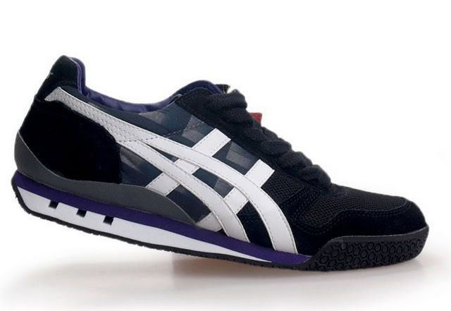 Onitsuka Tiger Black White Purple Ultimate 81 Mens Running Shoes