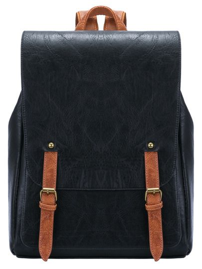 Shop Black Leather Buckle PU Backpack online. SheIn offers Black Leather Buckle PU Backpack & more to fit your fashionable needs.