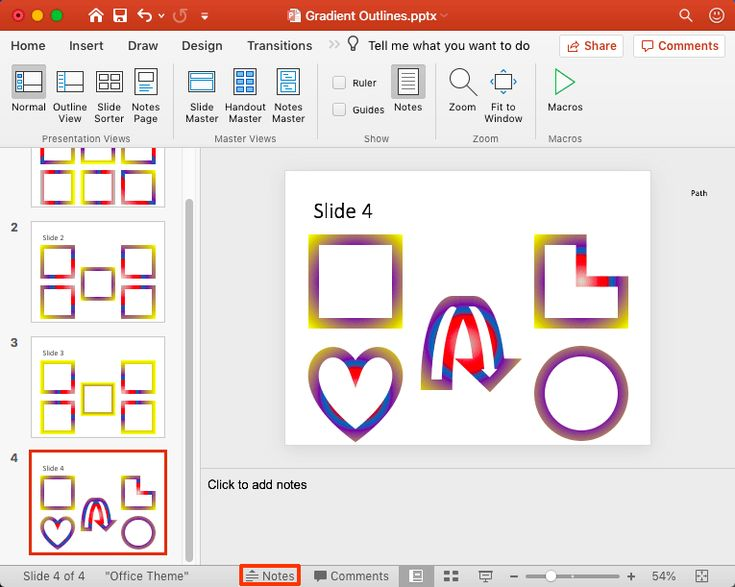 Notes Pane in PowerPoint 365 for Mac Powerpoint, Some