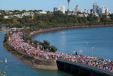 Ports of Auckland Round the Bays Sunday 9th March 2014. Fantastic fun and some wonderful charities are supported as well!