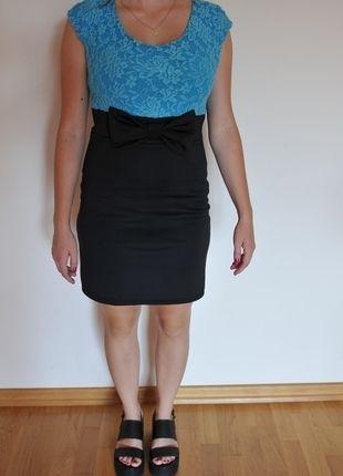Kup mój przedmiot na #vintedpl http://www.vinted.pl/damska-odziez/sukienki-wieczorowe/9962534-niebiesko-czarna-sukienka-z-kokarda