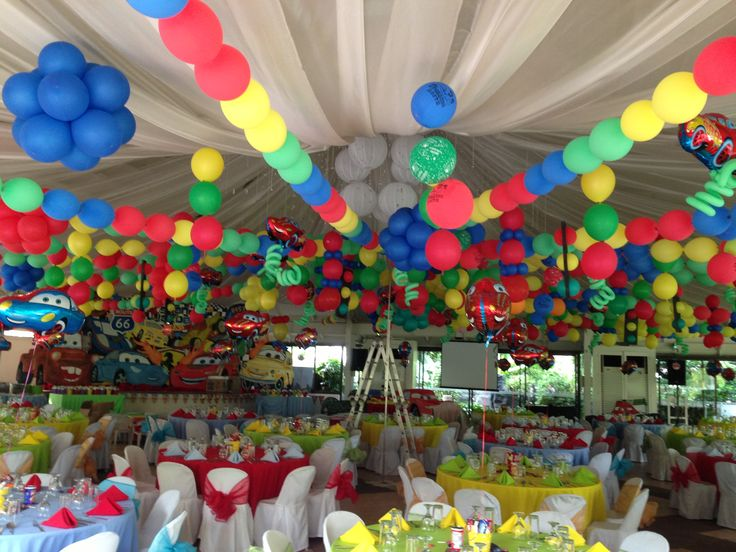 8 best images about disney cars party on pinterest water for Balloon decoration for birthday party philippines