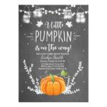 Baby Shower invite Little Pumpkin Fall Chalk