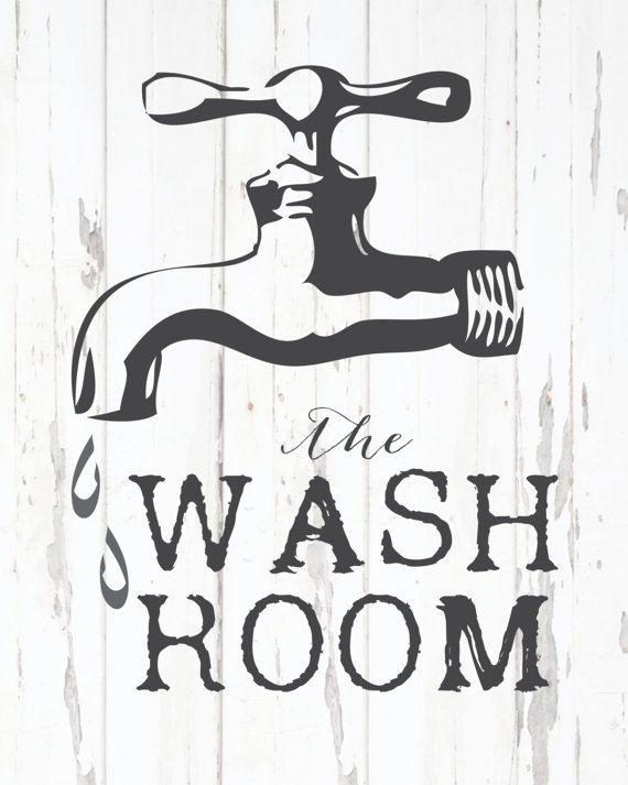 Bath Room Printable Wash Room Print Printable Wall Art Bathroom Wall Sign Bath Vintage Print Printable Bathroom Sign Vintage Bathroom Printable Bathroom Signs Bathroom Printables Bathroom Signs
