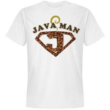 Java Man Coffee Humor Tee | BlueRose Creations - CustomizedGirl