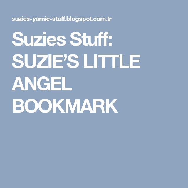 Suzies Stuff: SUZIE'S LITTLE ANGEL BOOKMARK