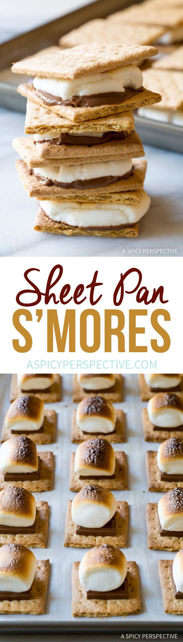 Perfect Easy Sheet Pan S'mores Recipe via @spicyperspectiv