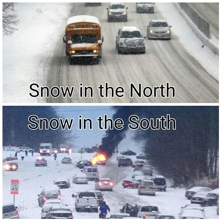 Я как истинный Южанин, согласен с этим зима, север, юг, Снег, истинный южанин