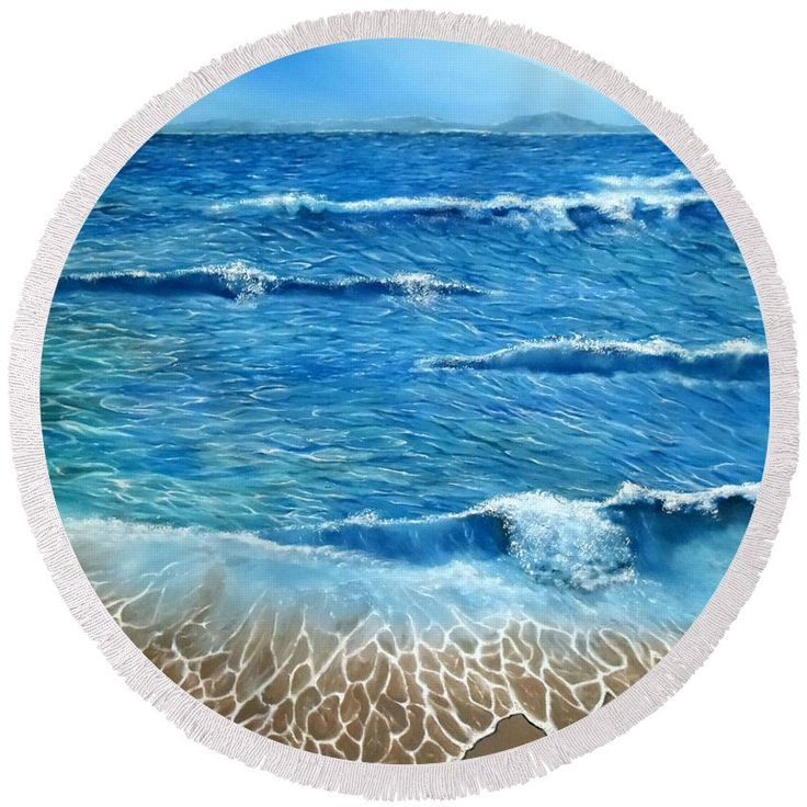 Round Beach Towel,  blue,accessories,cool,trendy,fancy,beautiful,unique,awesome,modern,artistic,fashionable,unusual,for,sale,design,items,products,ideas,sea,waves,nature