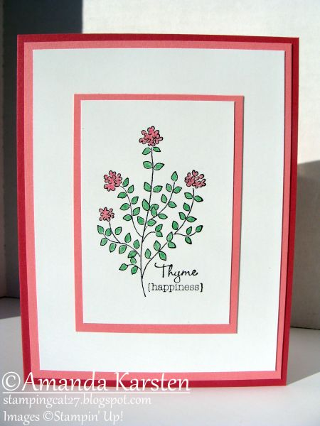 Herb Expressions - ThymeCards Sets, Cards Ideas, Thyme, Design Ideas, Paper Crafts, Floral Cards