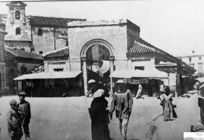 Antiguo mercado de Verónicas c. 1900 Murcia Reproducciones - Colección Joaquín Padilla - Región de Murcia Digital