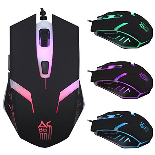 uppion 6D Button 1600DPI Optical LED Adjustable USB Wired Gaming Game Mice Mouse - Click image twice for more info - See a larger selection of gaming mouse at http://azgiftideas.com/product-category/gaming-mouse/- games,gift ideas for gamer, pc games, grown up toys accessories, holidays, christmas, gift ideas, pc accessories