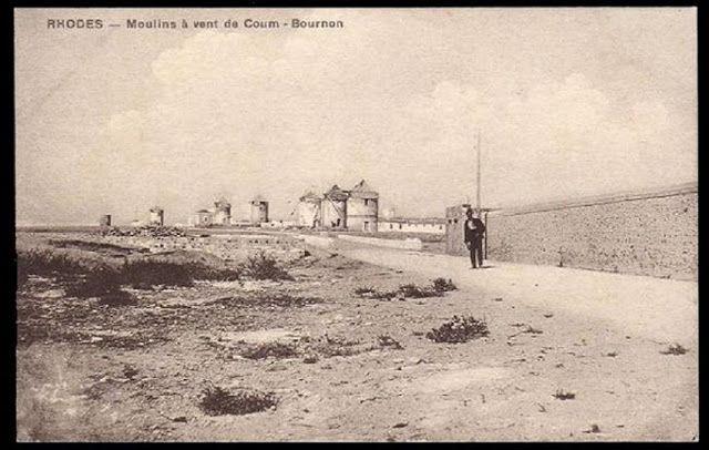 1900 H Ακτή Μιαούλη τον προηγούμενο Αιώνα. Φαίνονται οι Μύλοι και η περιοχή του Ενυδρείου