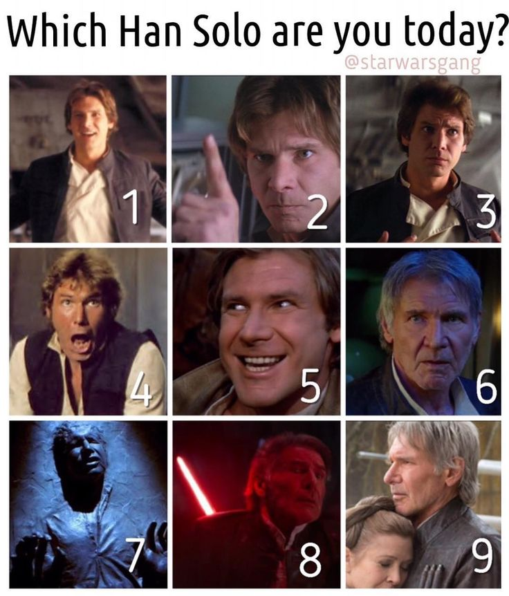 """1,526 Likes, 298 Comments - Star Wars Goats (@swgoats) on Instagram: """"Happy new year all! Which Han are you feeling like today? #starwarsgang"""""""