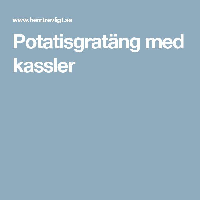 Potatisgratäng med kassler