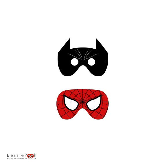 Spider-Man Mask Template BATMAN and SPIDERMAN mask printable PDF - printable mask template