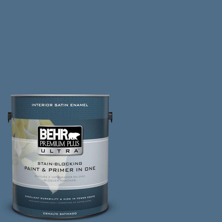 BEHR Premium Plus Ultra 1-gal. #S500-6 Shipyard Satin Enamel Interior Paint