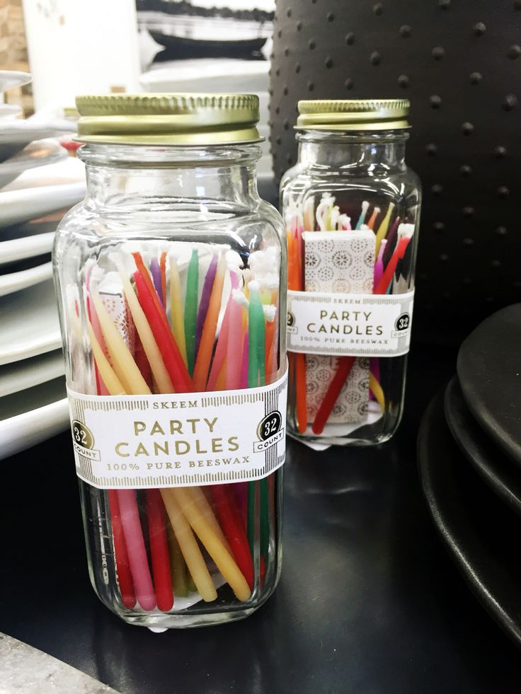 Party candles at Millworks!