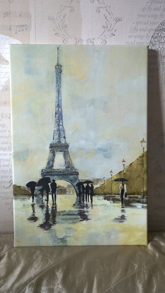 For Mother's Day this lovely Spring in Paris Diamond Dust Canvas is available to buy for £30