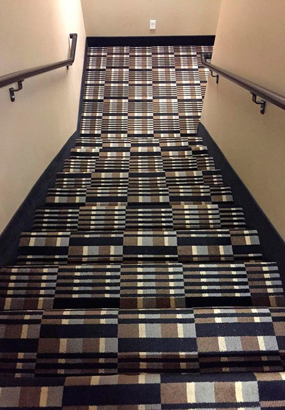 watch your step u2026 perhaps not the best carpet for stairs