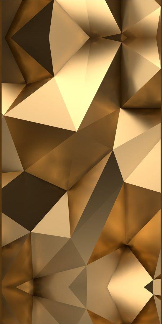 """Mural decorativo de pared """"Golden Illusion""""- Apuesta por las piezas imitación de oro, fotomurales con acabado metálico marcan tendencias esta temporada❤"""