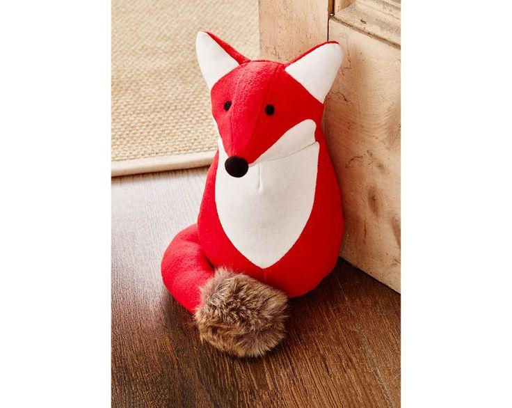 Fox Door Stop £10  Heavyweight doorstop in this cute fox design. H26cm x diam. 17cm. Composition polyester, acrylic, wool. Wipe clean only.  Code: 794066  Kleeneze KLife