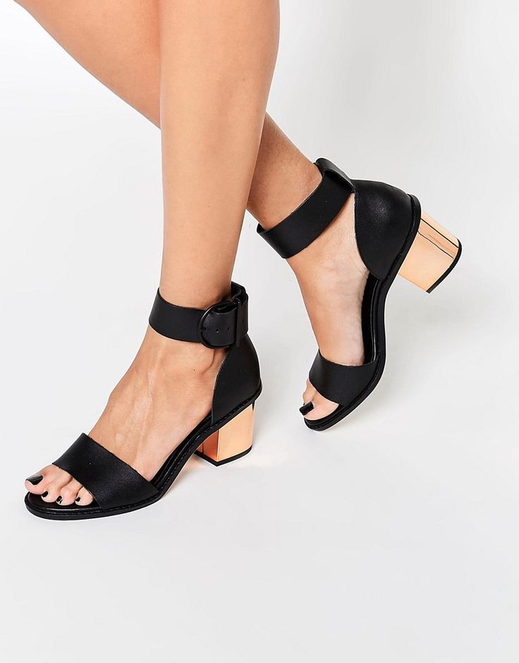 Image 1 of ASOS TAKER Two Part Leather Sandals