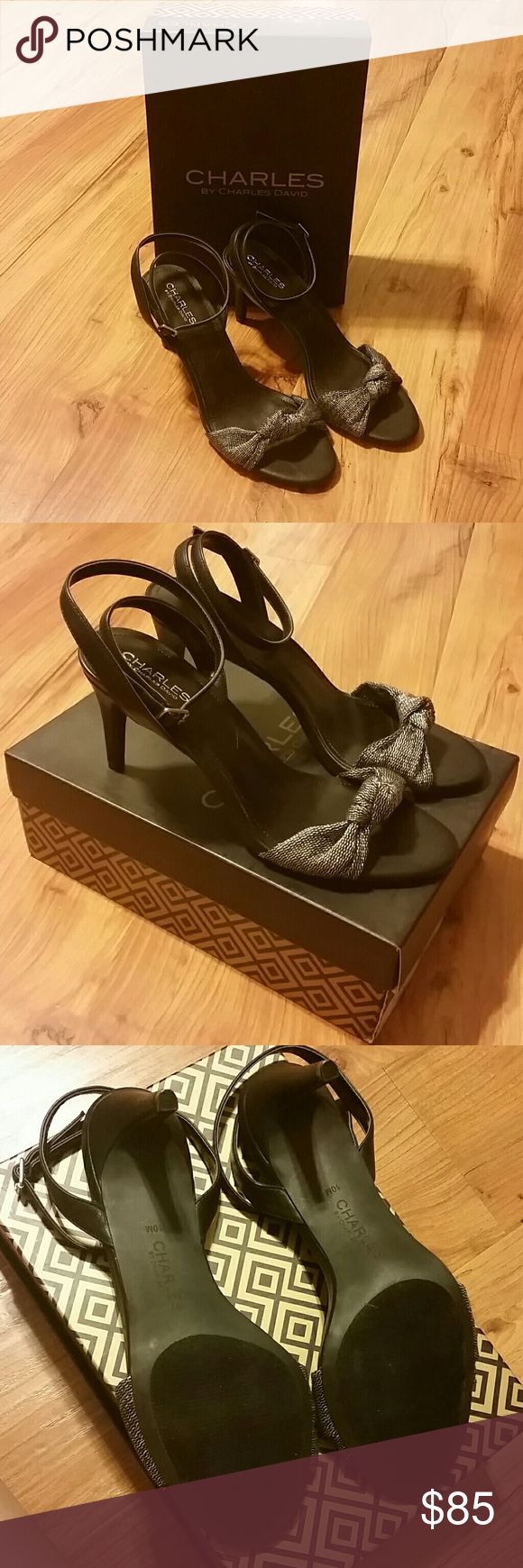 Charles by Charles David black & metallic heels Brand NIB Charles by Charles David Zoo heel. Charles David Shoes Heels