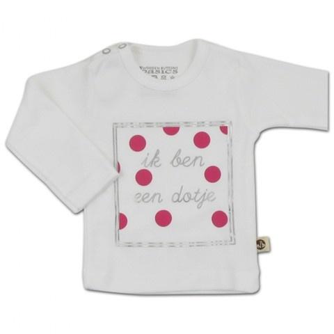 Wooden Buttons meisjes T-shirt Dotje