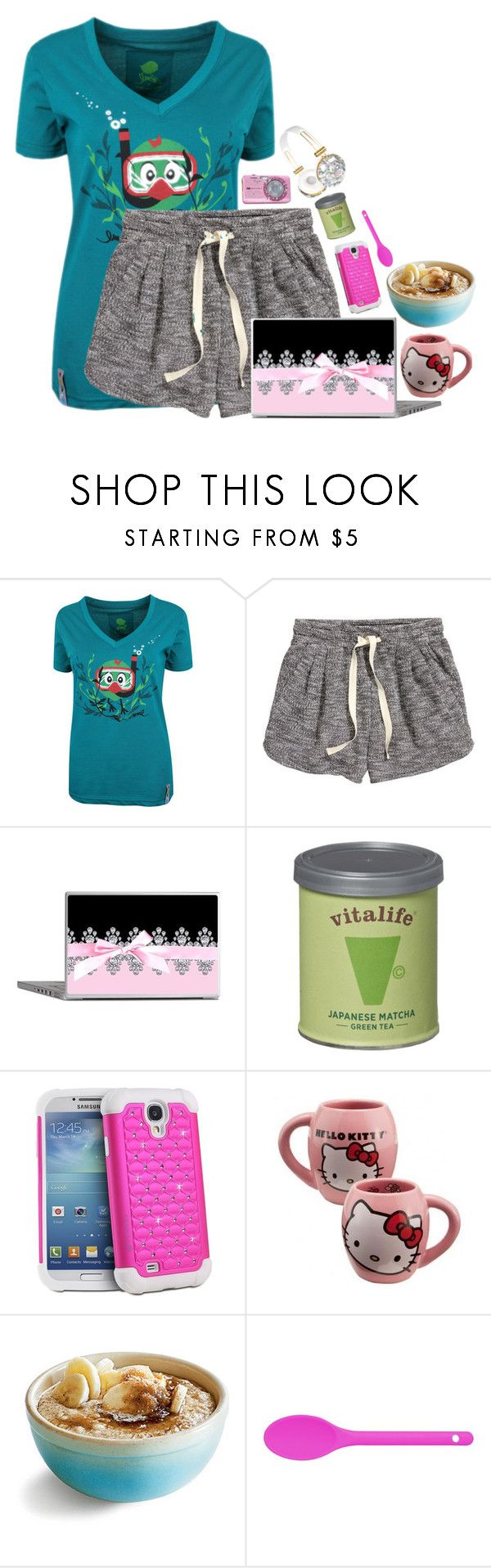 """well"" by emmzizleez888 ❤ liked on Polyvore featuring H&M, Samsung, Hello Kitty, Kitchen Craft Colourworks and vintage"
