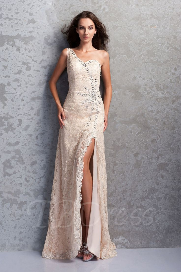 Tbdress.com offers high quality  Lace Mermaid/Trumpet One-Shoulder Sweep/Brush-Train Miriama's Mother of the Bride Dress Vintage Mother Dresses  unit price of $ 188.99.