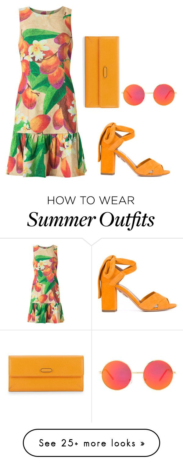"""""""Summer backyard barbecue outfit"""" by kelly-keegans on Polyvore featuring Aquazzura, Isolda, Charlotte Olympia and Revo"""