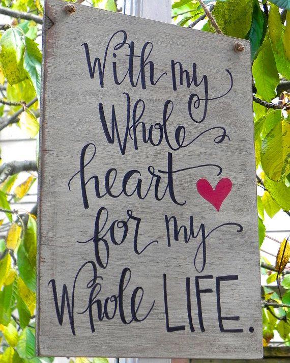 Custom Handmade Sign by HeartFeltScripts on Etsy, $30.00