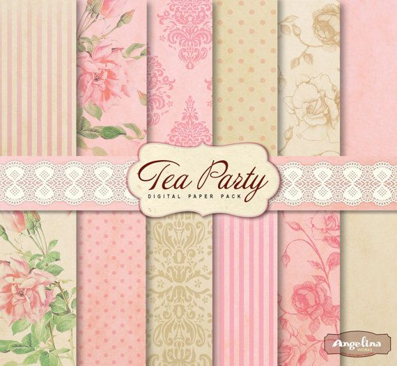68 best shabby style images on Pinterest | Digital papers, Shabby ...