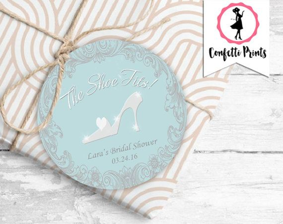 CINDERELLA Bridal Shower Favor Label | Favor Tag | Printable | Princess Bridal Shower | Glass Slipper | Fairy Tale Wedding | Disney Wedding