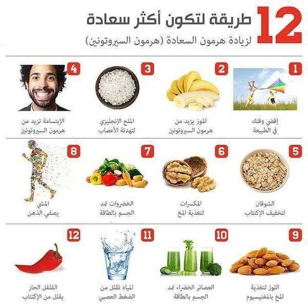 لزيادة هرمون السعاده Healthy Life Health 10 Things