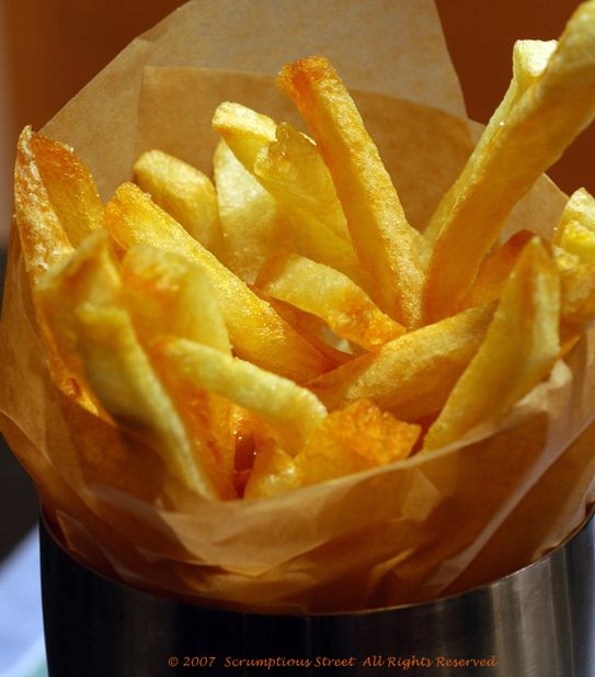 Anthony Bourdain's Les Halles pommes frites. Purportedly the best fries in existence. Must try.